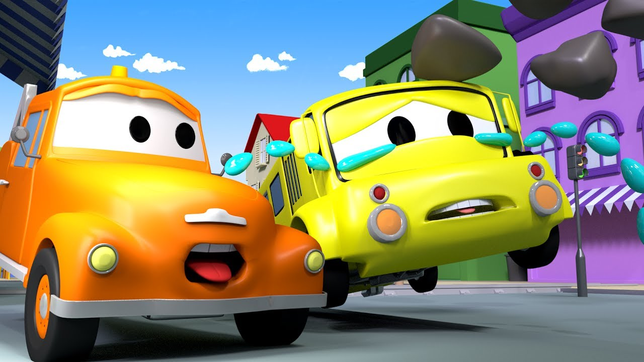 Tom The TOW TRUCK And Lily The Bus In Car City | CARS U0026 TRUCKS Construction  CARTOON For CHILDREN
