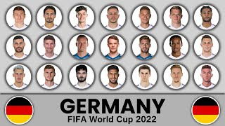 Germany Football Squad in FIFA World Cup 2022 Germany Football Team Germany Football Squad 2022