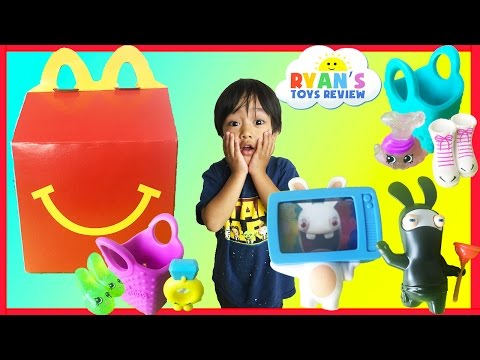Thumbnail: McDonald Indoor Playground for Kids Happy Meal Surprise Toys Shopkins Rabbids Ryan ToysReview