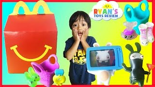 McDonald Indoor Playground for Kids Happy Meal Surprise Toys Shopkins Rabbids Ryan ToysReview