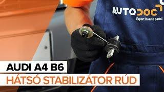 AUDI A4 első jobb Stabilizátor összekötő beszerelése: videó útmutató