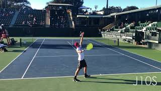 best tennis serve technique