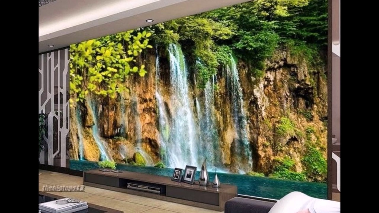 Beautiful nature wallpapers for living room decor clips 3 for Nature room wallpaper