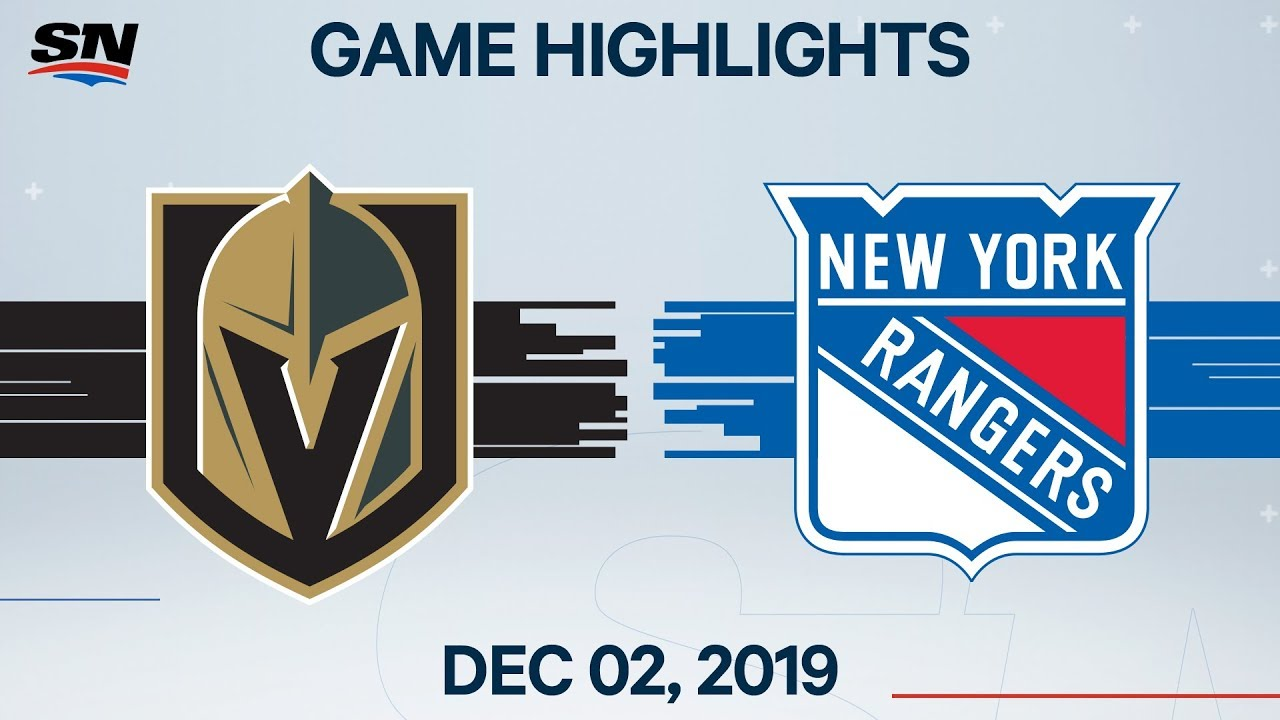 NHL Highlights | Golden Knights vs. Rangers – Dec. 02, 2019