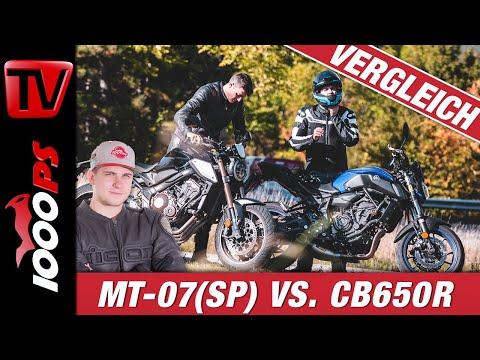 Nakedbikes im Vergleich - Yamaha MT07 vs. Honda CB650R