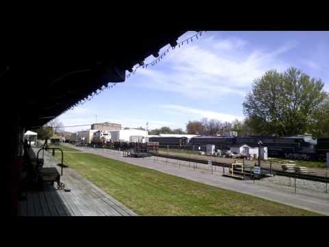 Falls Road Railroad Passes Medina Railroad Museum 5-9-17