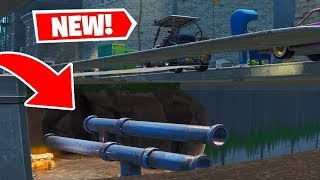 FORTNITE HOW TO GLITCH UNDER TILTED TOWERS (Driving Under Tilted! Walk Through Walls)