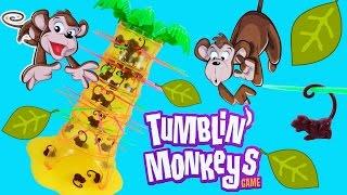 Распаковка обзор настольной игры обезьяны на пальме падающие обезьянки Unboxing tumblin monkeys