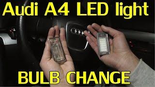 audi a4 b7 led bulb change