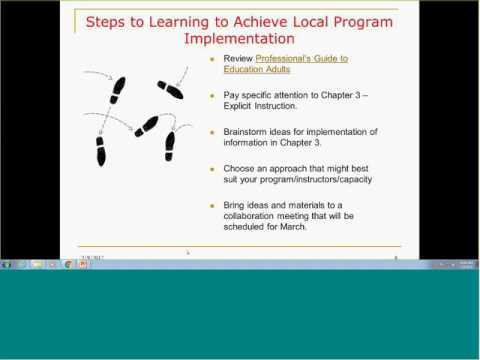 AEFL Grantee Instructional Specialist Meeting   Learning to Achieve 20170209 1536 1