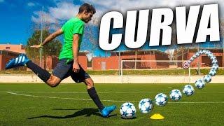 Como Pegar al Balón con Curva - Como Chutar con Rosca y Patear con Efecto Interior (Curva Tutorial)
