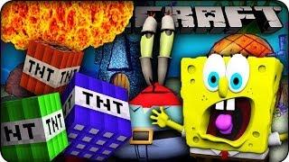 Minecraft Mods - TNT EXPLOSIONS ON BIKINI BOTTOM MAP! - Too Much TNT Mod Showcase