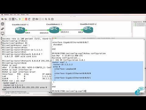 GNS3 Talks: Cisco IOS-XRv import and configuration Part 3: OSPF IOS-XRv and IOSv