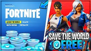 "HOW TO GET FORTNITE ""SAVE THE WORLD"" FOR FREE! (PS4, XBOX & PC Giveaway!) - Fortnite: Battle Royale"
