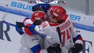 Олимпийская сборная России - США - 5-2. Видеообзор