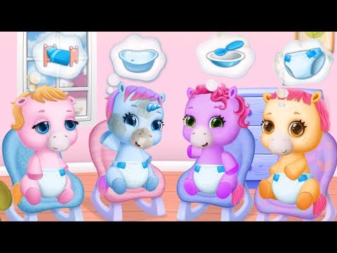 Fun Baby Pony Care Kids Game - Pony Sister Care, Horse Animal Dress Up Decoration Games For Babies