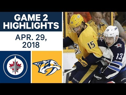 NHL Highlights | Jets vs. Predators, Game 2 - Apr. 29, 2018