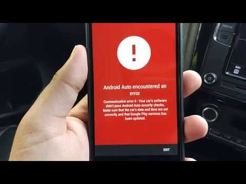 RCD 330G / RCD 340G Android Auto Communication Error 8 and possible  workaround