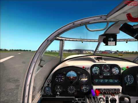 Saab Safir landing in Cumbernauld - FSX