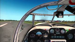 Saab Safir landing in Cumbernauld - FSX