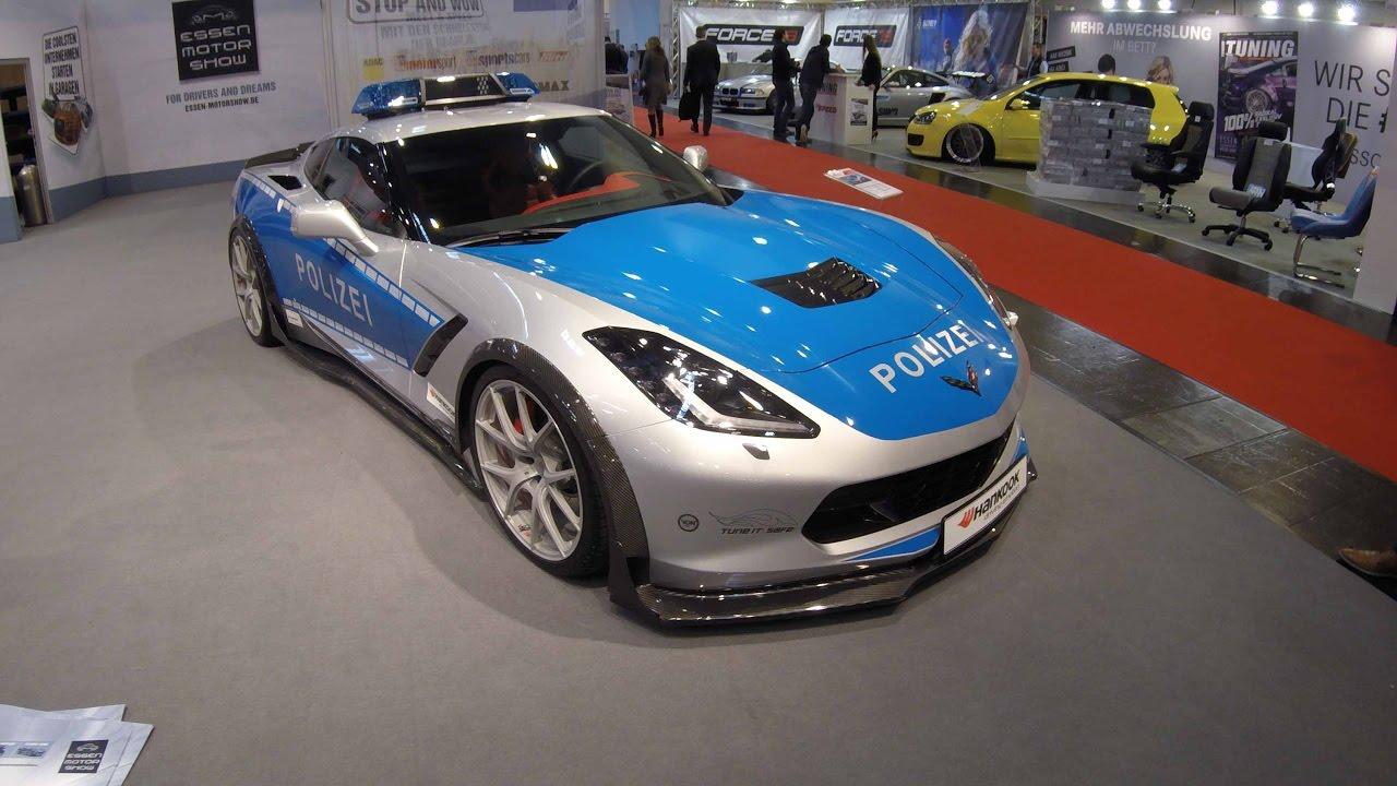 Corvette Police Car: CHEVROLET CORVETTE C7 STINGRAY GERMAN POLICE CAR POLIZEI