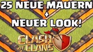 25 NEUE MAUERN LEVEL 11 + NEUER LOOK! || Clash of Clans Update - Sneak Peek [Deutsch/German HD]
