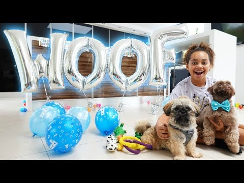 TIANA'S PUPPY'S BIRTHDAY PARTY SURPRISE!!