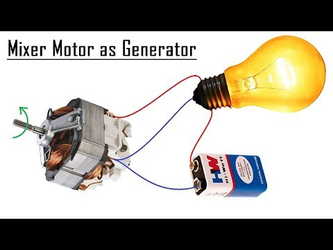 Free Energy Generator from a Mixer Motor DIY - 2017