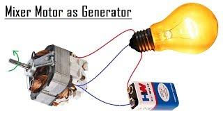 Free Energy Generator from a Mixer Motor DIY - 2018
