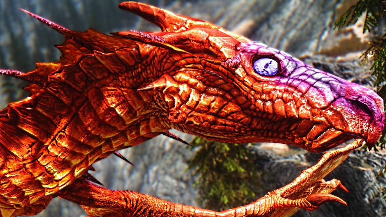 Skyrim - REVERED DRAGON Location Encounter Boss Fight ...