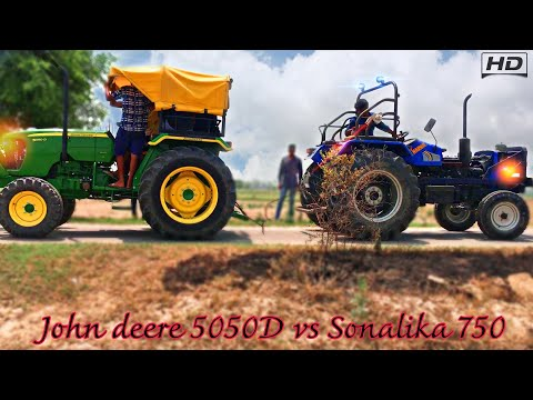 John deere 5050D vs Sonalika 750 Di full HD tochan in Haryana