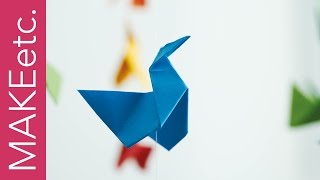 DIY Origami Swans Mobile - How to make a colourful hanging paper craft decoration