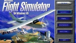 Microsoft flight simulator for windows 95!