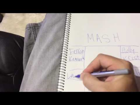 How to play the MASH Game by the game's inventor Mark Mash aka Monsta Ma$h