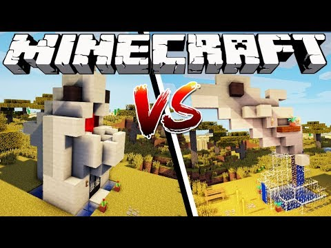 SHARK HOUSE VS DOLPHIN HOUSE - Minecraft