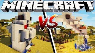 SHARK HOUSE VS DOLPHIN HOUSE - Minecraft