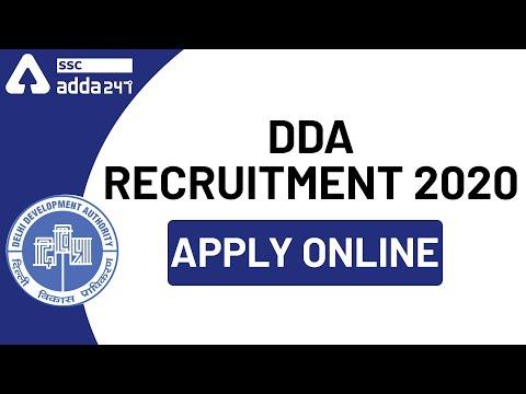 DDA Recruitment 2020   Apply Online