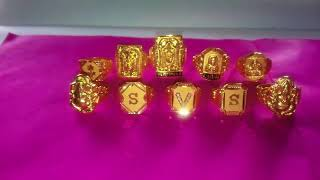 4 to 8 rings (god's) letters  916 gold hand made