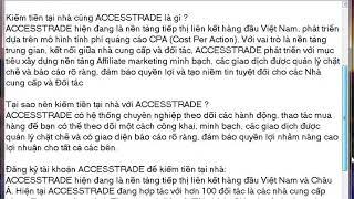 Cách kiếm tiền online uy tín với Accesstrade.vn
