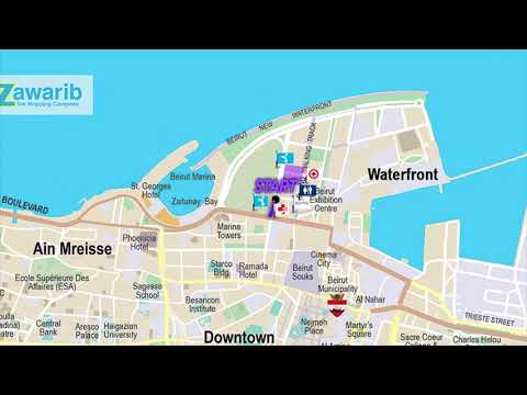 8 KM Race Map | BLOM BANK BEIRUT MARATHON 2018