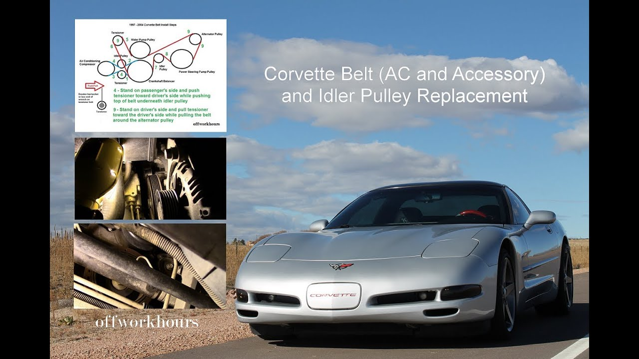 corvette belt ac and accessory and idler pulley replacement 1 of 3  [ 1280 x 720 Pixel ]