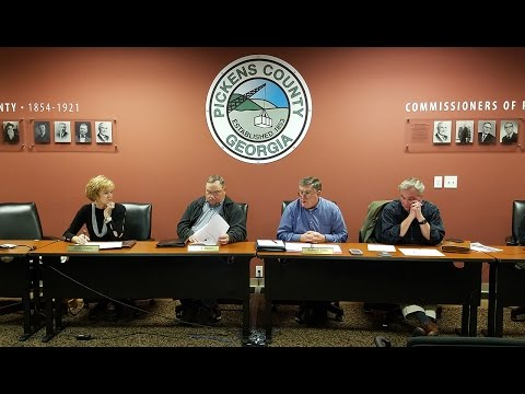 Pickens County Board of Commissioners Work Session March 2017