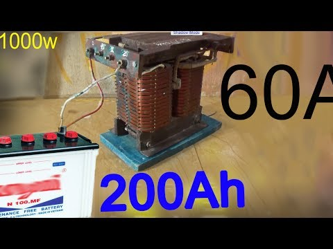 How To Make Volt Battery Charger Use 1000w Power Transformer Make Car Charger At Home