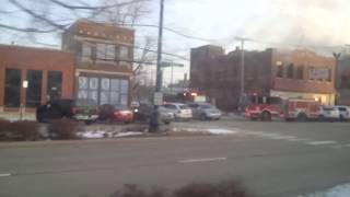 Chicago Fire Department Ambulance 19 & Engine 18 & Engine 5 on scene of a 2nd Alarm Fire/2-11 Alarm