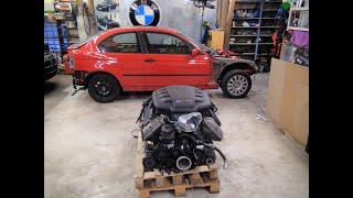 BMW E46 Compact V8 Swap der Motor ist da, S62 Projekt beendet, neues Projekt M3 S65 mit Motorschaden