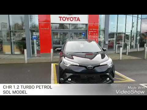 TOYOTA CHR 1.2 PETROL SOL MODEL IN STUNNING NIGHT SKY BLACK