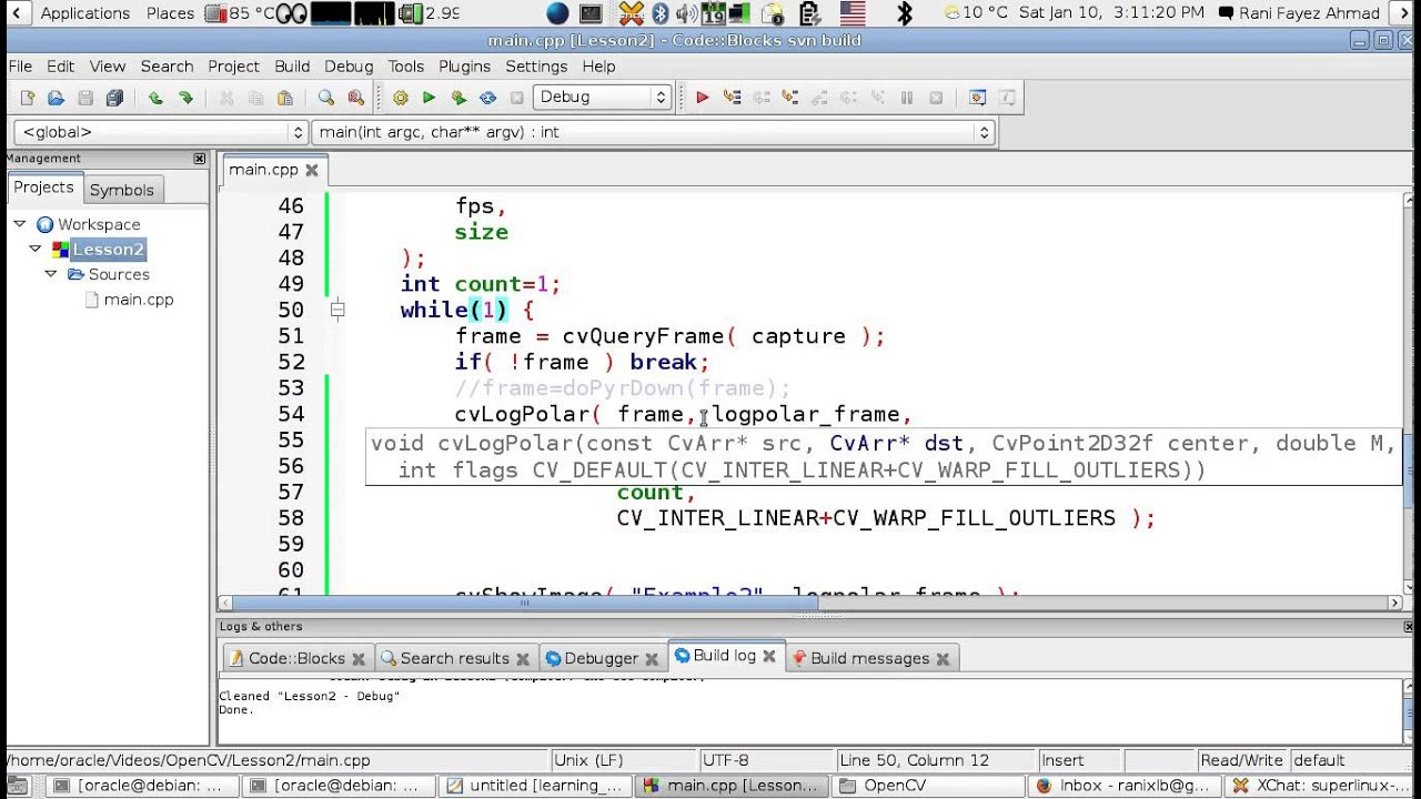 OpenCV Using C++ Lesson 12: Saving Video Capture to a File (Arabic Version)