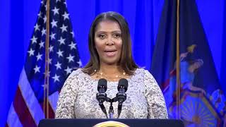 N.Y. Attorney General Letitia James: Oath of Office and Inaugural Address
