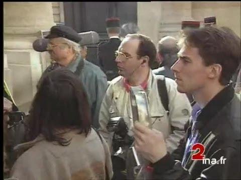 Matignon : Passations de pouvoirs entre Pierre Bérégovoy et Edouard Balladur