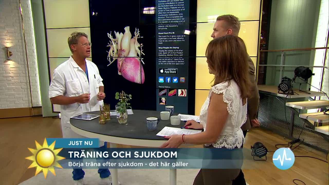 Börja träna efter sjukdom – det här gäller - Nyhetsmorgon (TV4)
